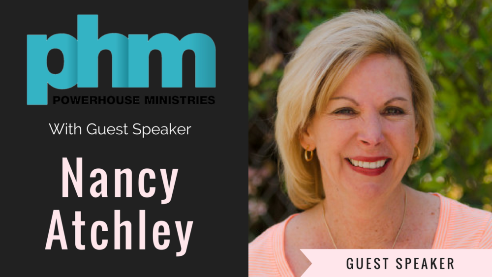 Guest Speaker- Nancy Atchley